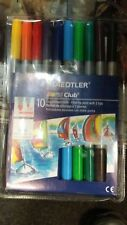 10 X STAEDTLER FIBRE-TIP PENS WITH 2 TIPS | STATIONERY & SCHOOL EQUIPMENT