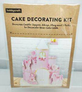 Cake Decorating Kit Princess Castle Hobbycraft Topper Pink Girls Birthday Party