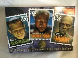 Universal Studios Monsters Collection, Frankenstein, Wolf Man, Mummy, Stamps