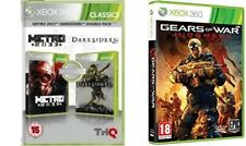 metro 2033 + darksiders  USED    &     gears of war judgment   new&sealed