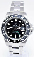 Rolex GMT-Master II Steel Ceramic Black/Green 40mm Watch Box/Papers M 116710