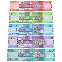 Gambia 5 + 10 + 20 + 50 + 100 Dalasis 2019 Set of 5 Banknotes 5 PCS UNC