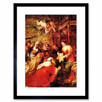 Painting Rubens Adoration Magi Old Master Framed Picture Art Print 9x7 Inch