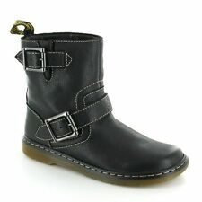 Dr. Martens Buckle 100% Leather Boots for Women