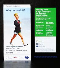 TFL London 2012 Olimpiadi Londra Walking Mappa KING'S CROSS Station souvenir