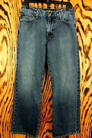 Lucky Brand Mens 181 Relaxed Straight Leg Medium Wash Denim Blue Jeans Sz 32X30