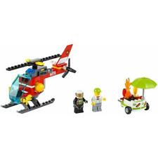 Lego Fire Helicopter And Hot Dog Stand Split From Lego City Set 60110 NEW