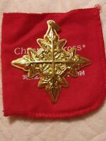 Wow! 1982 Reed and Barton Christmas Cross Ornament Vermeil Sterling Silver 2.75""
