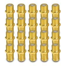 F Verbinder Sat vergoldet 20 x Kupplung Buchse Verbindung Stecker Doppel Adapter