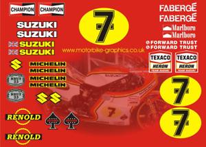Suzuki Sheene 76 77 decal set