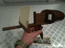 """Stéréoscope antique """"July 24 1883"""" avec 2 photos de 1914-1918"""