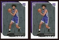 (LOT x 2) 2018-19 Marvin Bagley NBA Hoops #258 RC Rookie Card Sacramento Kings