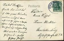 410260) DR 5 Pf. Germania auf AK, Bahnpost Berlin-Sangerhausen