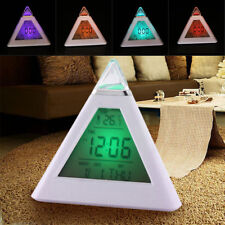 LED Display Alarm Wecker Gift 7 Farben Led Pyramiden Thermometer Dreieckwecker