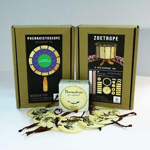Zoetrope + Phenakistoscope + Thaumatrope (3 animation optical toys)
