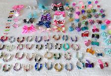 Littlest Pet Shop LPS RANDOM COLORS  Lot of 9 Custom Bow Necklace & Earrings #8