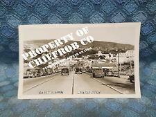 Circa 1939-40 Coast Highway & Town Laguna Beach CA Original Real Photo Postcard