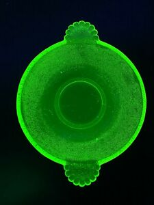 Small Green Uranium Glass Bowl