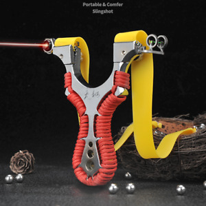 Archery Slingshot Hunting Catapult Laser Aiming Alloy Slingbow Shooting Target