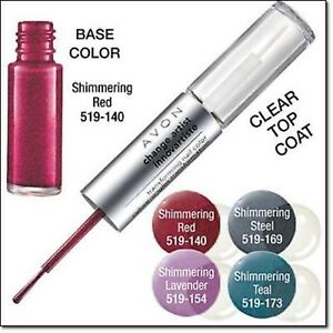 AVON CHANGE ARTIST TRANSFORMING NAIL COLOR - SHIMMERING RED