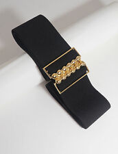 Women Ladies Fashion Elastic Stretch Cinch 2 inch Belt All Sizes and Colors