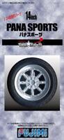 "Fujimi TW-43 1/24 Scale Model Car Parts Pana Sport 14""inch Wheel & Tire Set"