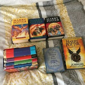 Harry Potter Ted Smart/Bloomsbury Hardback 1st Editions 1-7 + 2 Others Low Print