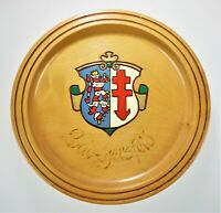 """Bad Hersfeld Germany Coat of Arms Crest Wood Hanging Plate 6.5"""" Plaque Sign"""