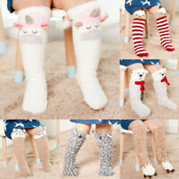 Baby Toddler Kids Cartoon Knee High Floor Socks Tights Leg Warmer Stockings Hot