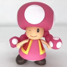 Super Mario Bros Pink Mushroom Toad PVC Action Figure Model Toy