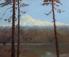 LAC DE CAUMA à FLIMS en SUISSE, Léon ZEYTLINE (1885-1962) Alpes,neige