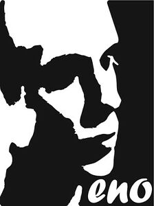 Brian Eno vinyl decal Glam Ambient Producer Electronic Music Synthesizer sticker