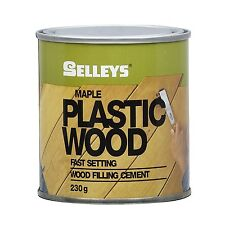 Selleys PLASTIC WOOD All Purpose Fast Setting Filler Cement Tub - MAPLE, 230g