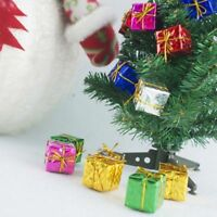 Mini Christmas Ornaments Foam Gift Boxes Xmas Tree Hanging Party Decor  HQYL
