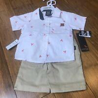 Toddler Boys American Hawk 2pc Shorts & Shirt Set Sizes 18M