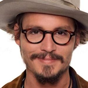 Deluxe Leopard Retro Acetate Eyeglass frames Johnny Depp Glasses Spectacles