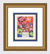 "Pretty Henri MATISSE Exhibition Poster ""Madame de Pompadour"" SIGNED Framed COA"