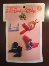 Vintage 1963 Mattel Barbie & Midge Shoes Fashion Imported from Japan NOS Rare