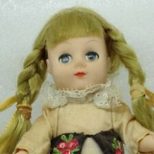 Vintage Kingstate the Dollcrafter Swiss Doll Blue Sleepy Eyes Girl 8 inch