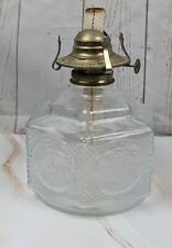 Vintage Lamplight Farms Glass Oil Lamp W/ Horse Drawn Buggy