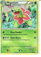 POKEMON HEARTGOLD AND SOULSILVER CRACKED ICE HOLO CARD 26/123 MEGANIUM grade9/10