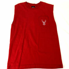 Harley-Davidson T-Shirt Mens L Red Muscle Sleeveless Pocket Thiensville WI dealr