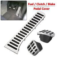 3pcs Car MT Fuel Brake Clutch Pedal Cover For VW Golf Jetta MK5 MK6 CC Scirocco