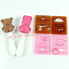 Bear Rabbit Shape Rice Ball Onigiri Bento Mold Punch Mould DIY Tools Sushi Maker