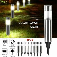 Solar Pathway Lights Landscape Outdoor Patio Garden Driveway Walkway Yard LED
