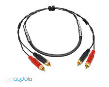Standard 2 Channel Mogami 2930 Snake   Black & Red Amphenol Rca to Rca   2 ft 2'