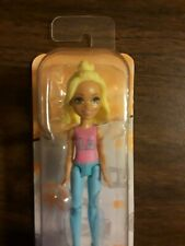 """Barbie on the Go Fashion Doll by Mattel 4"""" Tall  LA T-shirt Blond Hair Sealed"""
