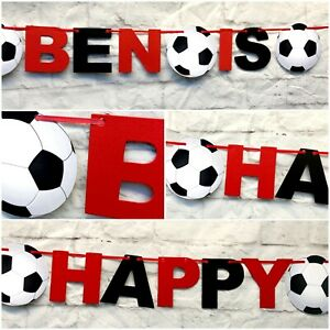 Personalised Man U team Manchester Birthday Bunting united Party FC Banner