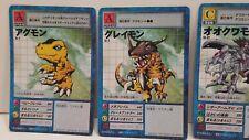 Lot of 5 Rare Japanese Digimon Trading Cards - 1999 Bandai