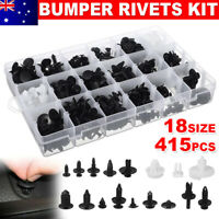 415Pcs Car Trim Clip Body Plastic Rivet Push Pin Fasteners Screw Moulding Bumper